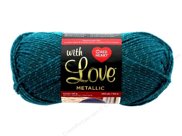 Red Heart With Love Metallic Yarn 200 yd. #8524 Teal