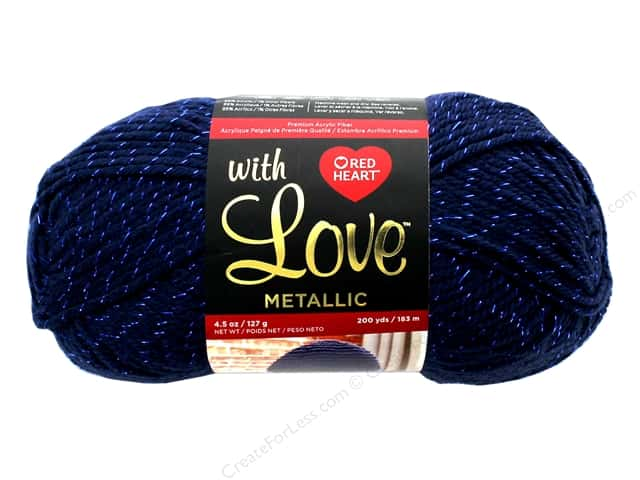 Coats & Clark Red Heart With Love Yarn Metallic 4.5 oz 200 yd Royal