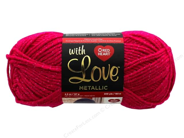 Red Heart With Love Metallic Yarn 200 yd. #8922 Fuchsia