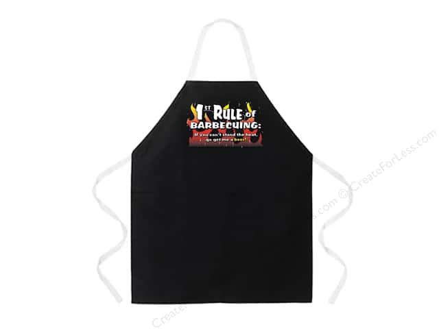 Attitude Aprons 27 in. x 34 in. 1st Rule Of Barbecuing