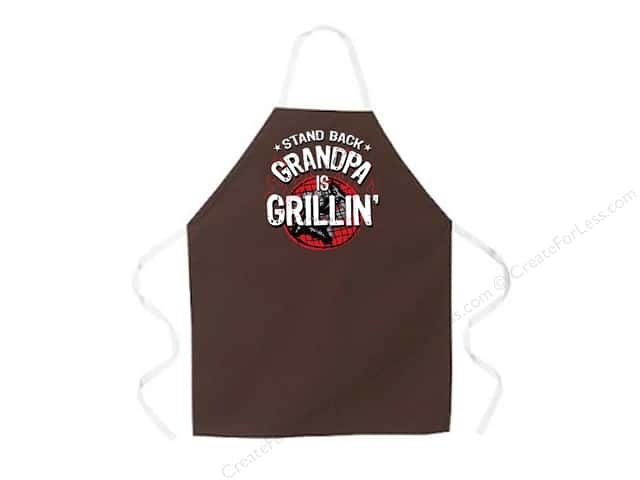 Attitude Aprons 2 in. x 34 in. Grandpa Is Grilling