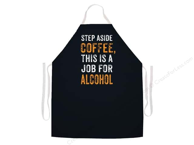 Attitude Aprons 27 in. x 34 in. Step Aside Alcohol