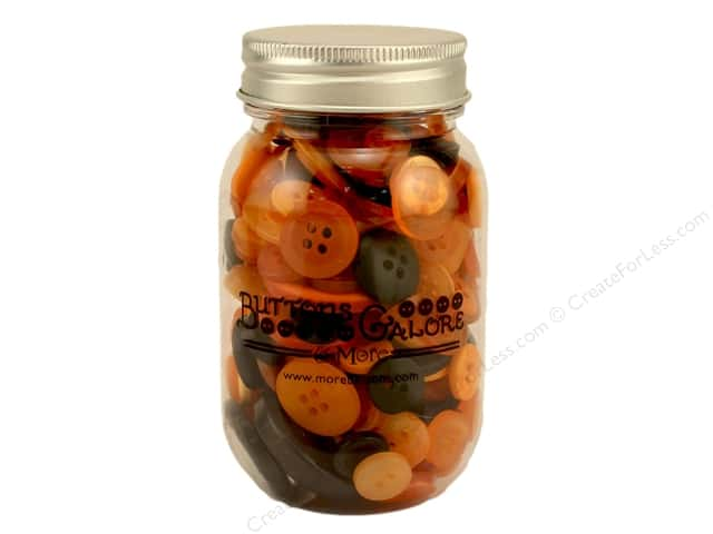 Buttons Galore Button Mason Jar Halloween