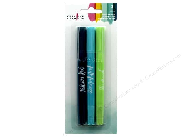 American Crafts Creative Devotion Gel Crayons Set 1 3 pc