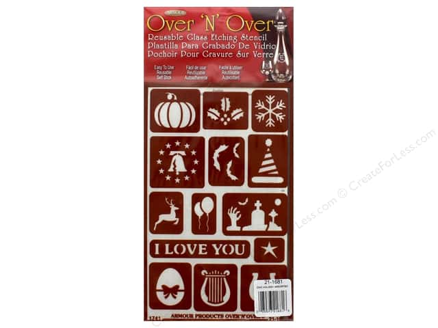 Armour Over 'N' Over Stencil Holiday Assorted