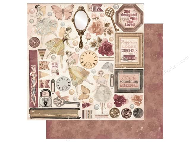 Bo Bunny Collection Charmed Paper 12 in. x 12 in. Perfection