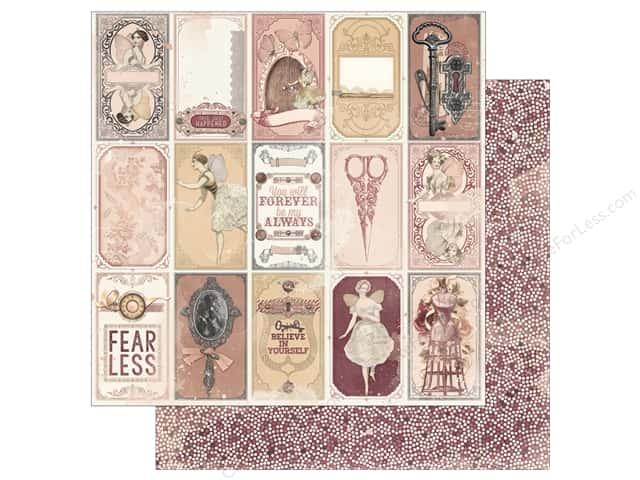 Bo Bunny Collection Charmed Paper 12 in. x 12 in. Mirror (25 pieces)