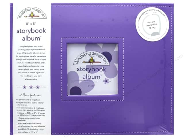 Doodlebug Album Storybook 8 in. x 8 in. Lilac