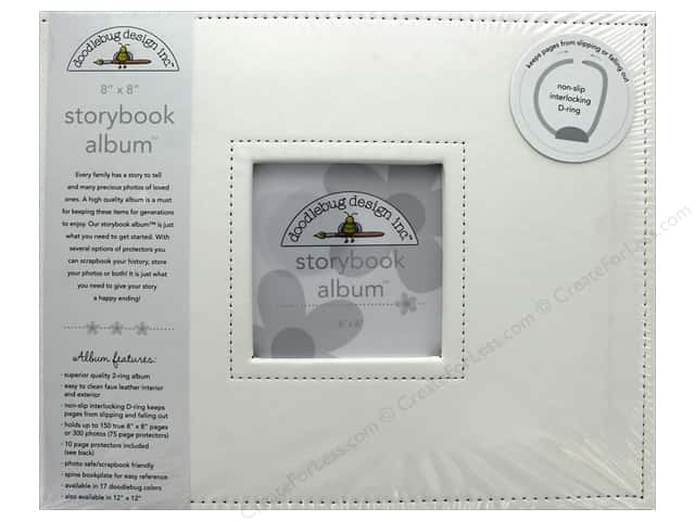 Doodlebug Album Storybook 8 in. x 8 in. Lily White