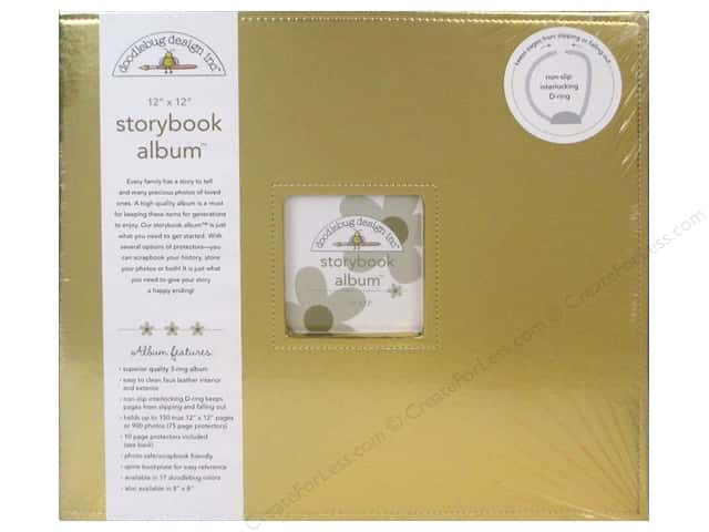 Doodlebug Album Storybook 12 in. x 12 in.  Gold
