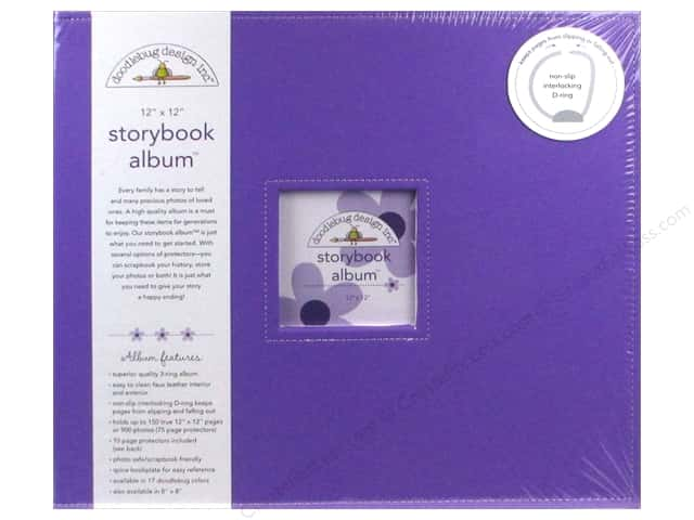 Doodlebug Album Storybook 12 in. x 12 in.  Lilac