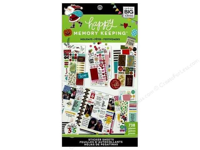 Me&My Big Ideas Collection Create 365 Happy Memory Keeping Sticker Value Pack Big Holidays