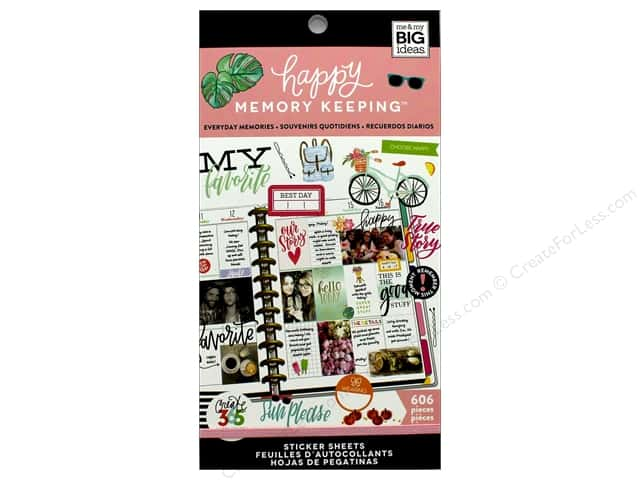 Me&My Big Ideas Create 365 Happy Memory Keeping Sticker Value Pack BIG Everyday Memories