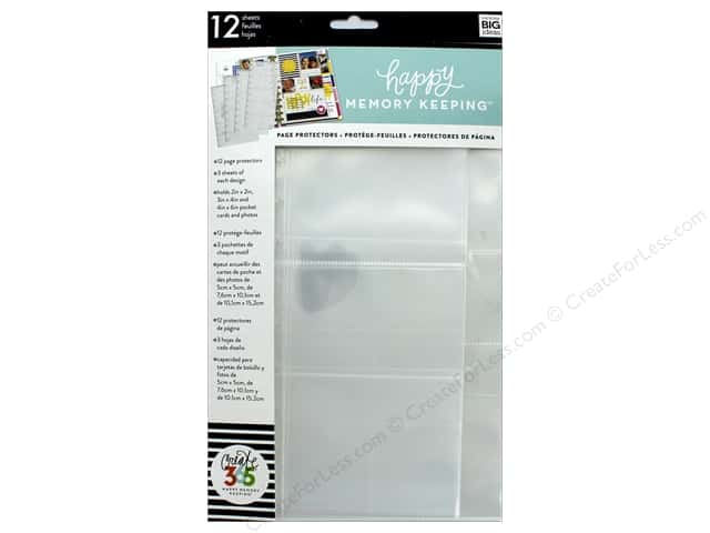 Me&My Big Ideas Create 365 Happy Memory Keeping Page Protector Big Assorted 12 pc