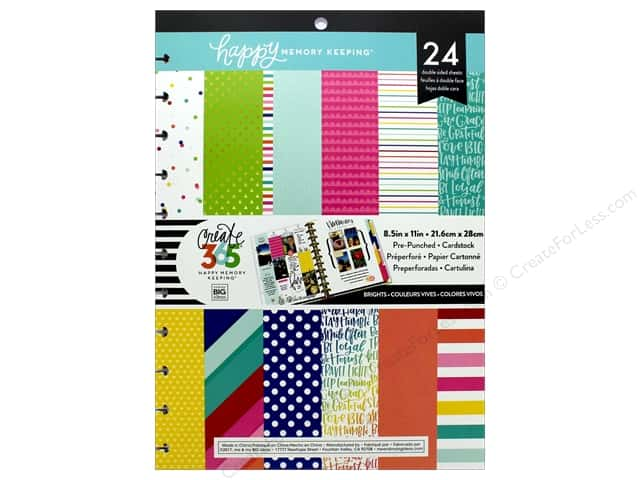 Me&My Big Ideas Collection Create 365 Happy Memory Keeping Paper Pad Big Bright