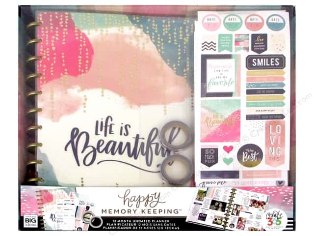 Me&My Big Ideas Create 365 Happy Memory Keeping Planner Box Kit Big Life is Beautiful