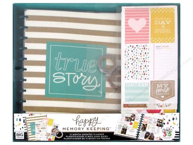Me&My Big Ideas Create 365 Happy Memory Keeping Planner Box Kit Big True Story