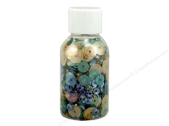 Buttons Galore 28 Lilac Lane Sequin & Bead Mix Shells & Sand