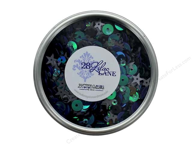 Buttons Galore 28 Lilac Lane Sequin Tin Haunted House
