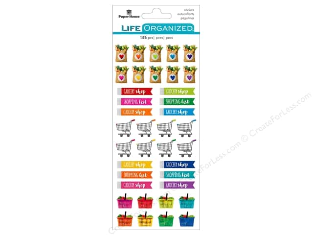 Paper House Collection Life Organized Sticker Functional Grocery