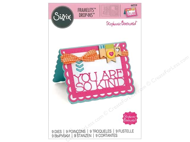 Sizzix Dies Stephanie Barnard Framelits Drop In Scallop Thanks