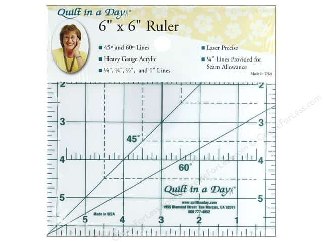 Quilt In A Day Ruler 6 in. Square Up