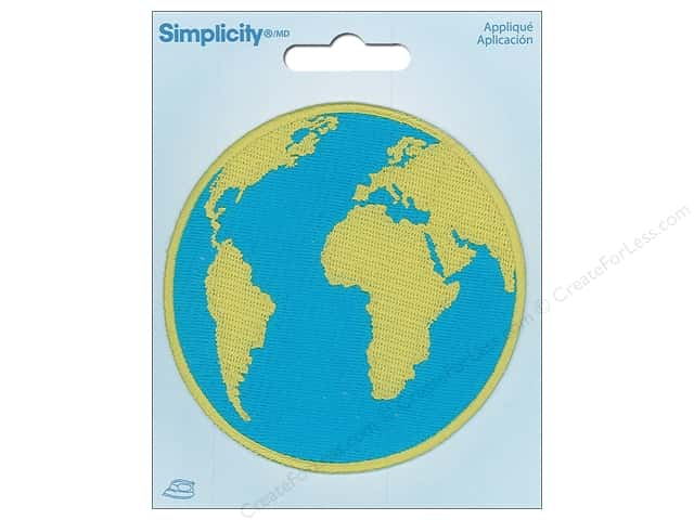 Simplicity Applique Iron On Earth Globe
