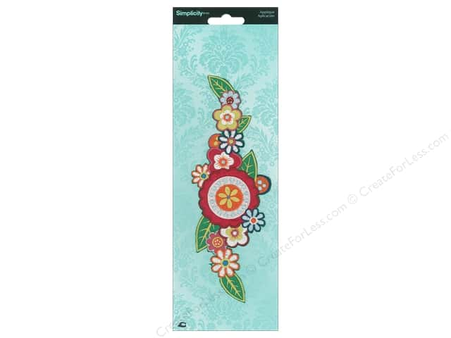 Simplicity Applique Iron On Large Boho Flowers Multi