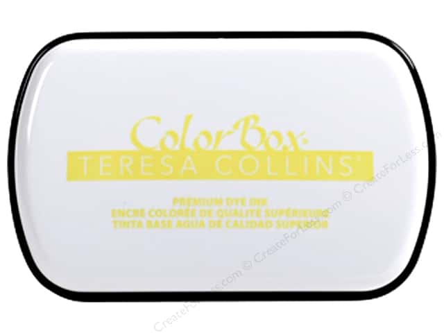 ColorBox Premium Dye Ink Pad Full Teresa Collins Yielding Yellow