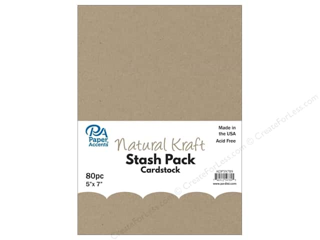 Paper Accents Cardstock Stash Pack 5 x 7 in. Natural Kraft 80 pc.