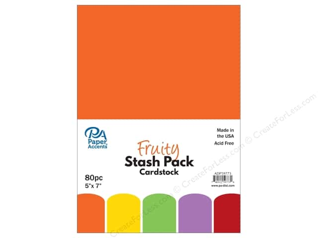 Paper Accents Stash Pack Cardstock 5 in. x 7 in. Fruity 80 pc