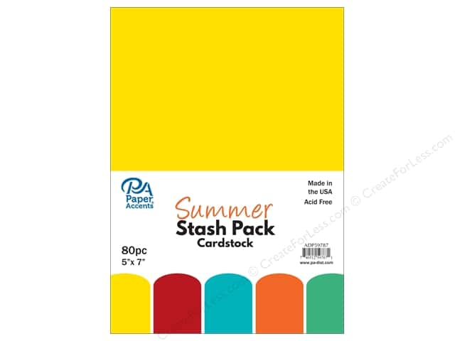 Paper Accents Cardstock Stash Pack 5 x 7 in. Summer 80 pc.