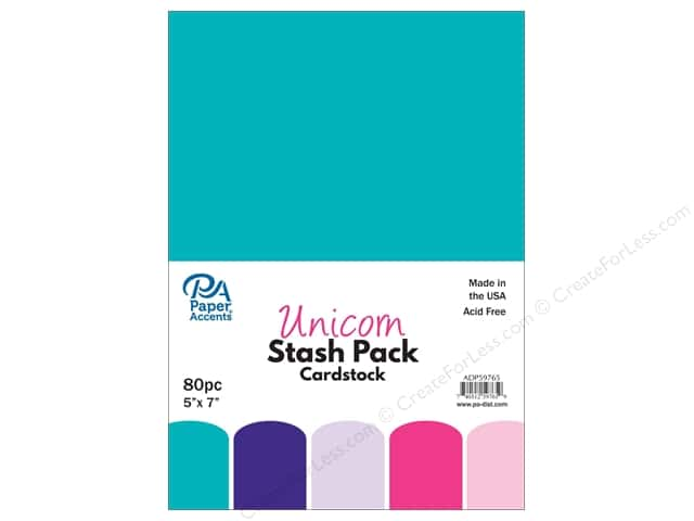 Paper Accents Stash Pack Cardstock 5 in. x 7 in. Unicorn 80 pc