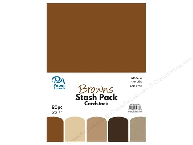 Paper Accents Cardstock Stash Pack 5 x 7 in. Browns 80 pc.