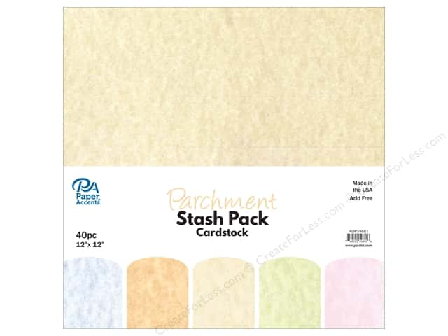 Paper Accents Stash Pack Cardstock 12 in. x 12 in. Parchment 40 pc