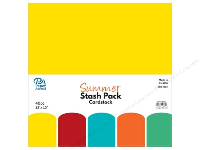 Paper Accents Stash Pack Cardstock 12 in. x 12 in. Summer 40 pc
