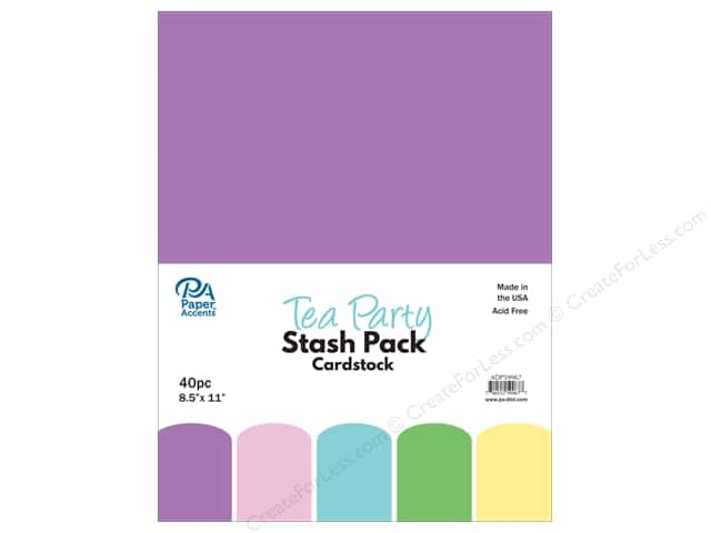 Paper Accents Stash Pack Cardstock 8.5 in. x 11 in. Tea Party 40 pc
