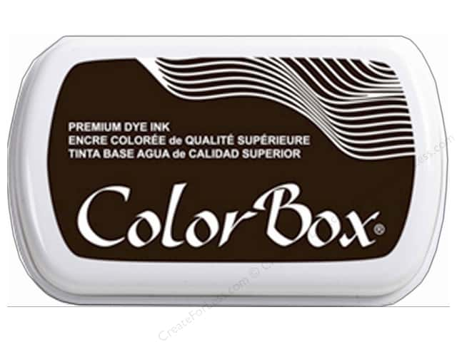 ColorBox Premium Dye Ink Pad Full Size Black Bean