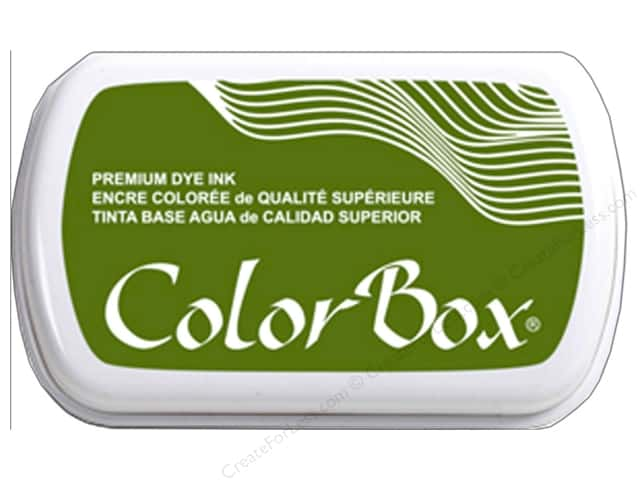 ColorBox Premium Dye Ink Pad Full Size Olive