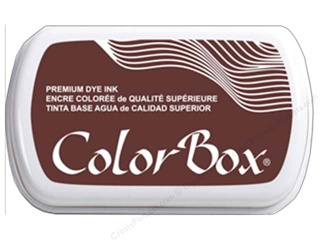 ColorBox Premium Dye Ink Pad Full Size Leather
