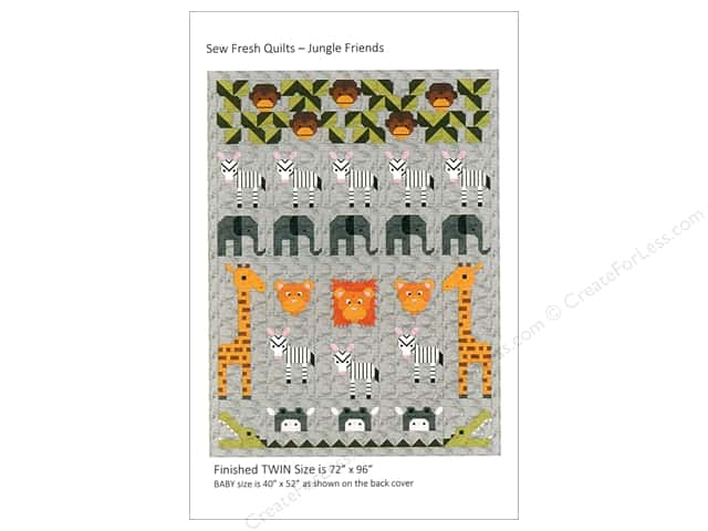 Sew Fresh Quilts Jungle Friends Pattern
