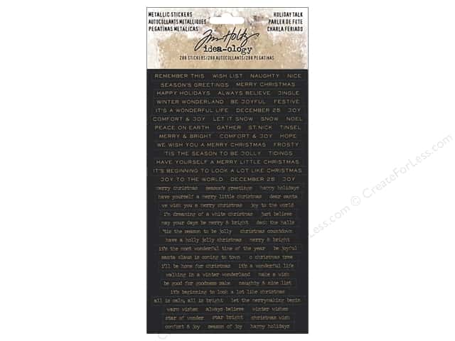Tim Holtz Idea-ology Christmas Metallic Sticker Holiday