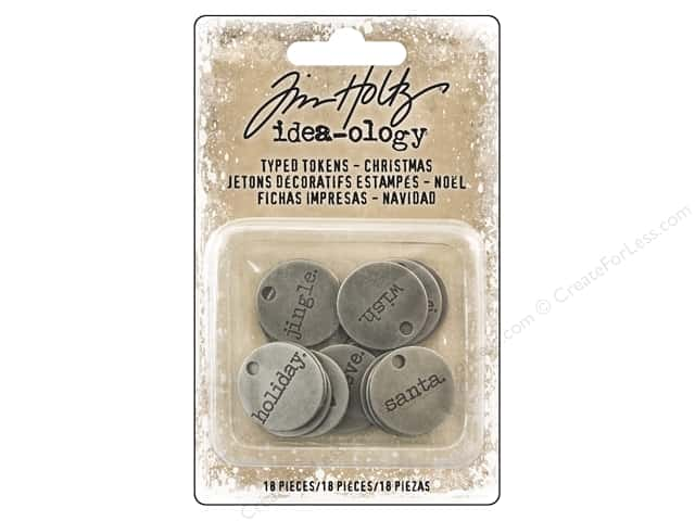 Tim Holtz Idea-ology Christmas Typed Tokens