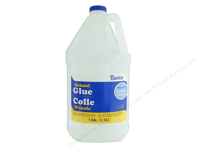 Darice Glue School Washable 1 gal Clear