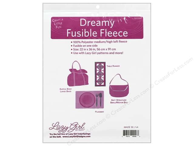 "Lazy Girl Dreamy Fusible Fleece 22""x 36"""