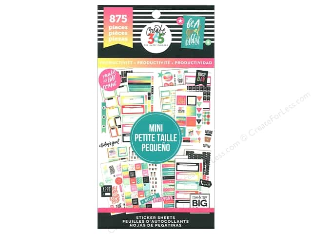 Me&My Big Ideas Create 365 Happy Planner Sticker Value Pack Mini Productivity