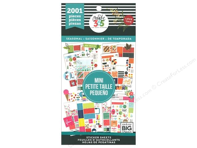 Me&My Big Ideas Collection Create 365 Happy Planner Sticker Value Pack Mini Seasonal