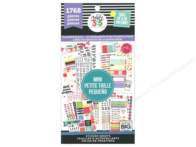 Me&My Big Ideas Collection Create 365 Happy Planner Sticker Value Pack Mini Basics