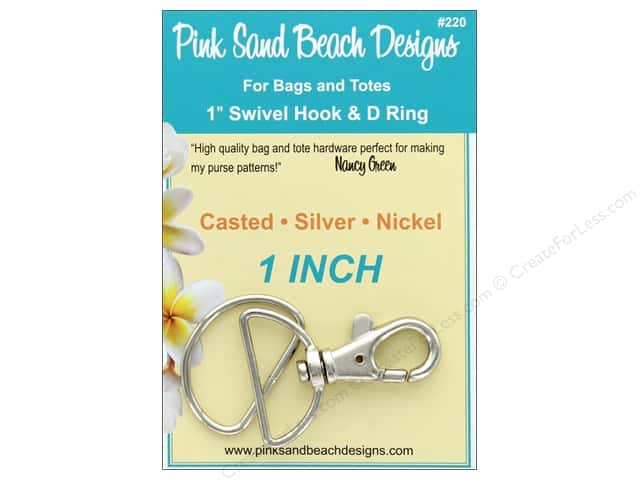 Pink Sand Beach Swivel Hook And D Ring 1 in.