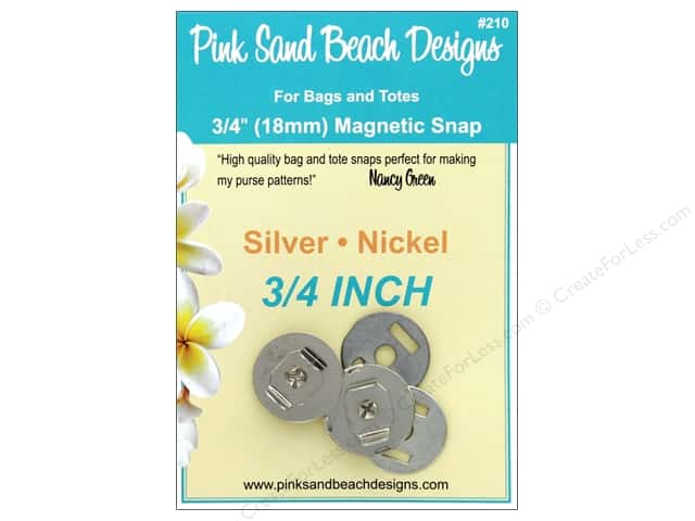 Pink Sand Beach Snap Nickel Silver .75 in.